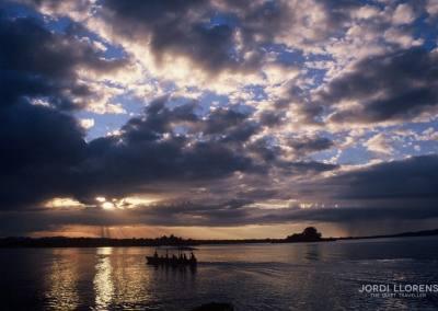 Hacia el atardecer, Lago Petén Itzá, Guatemala