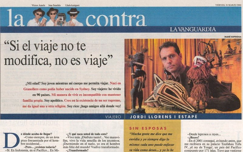 The back cover of La Vanguardia newspaper