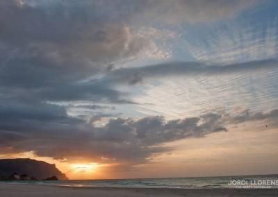 Anochecer, Playa de Detwa