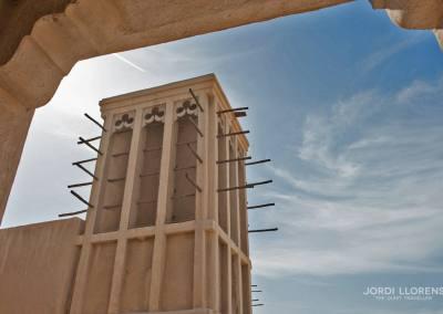 Torre ventilación de la casa tradicional Al Maktoum, Bur Dubai, Dubai
