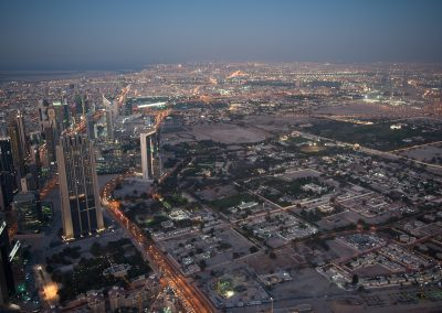 Panorámica desde la torre Burj Khalifa, Dubai