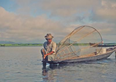 Pescador, Lago Inle