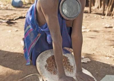 Mujer surma, Valle del rio Omo, Etiopía