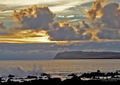 Amanecer en Ahu Tongariki, Rapa Nui