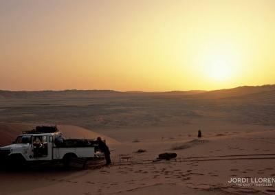 Aprovechando las últimas horas del día, desierto Akakus