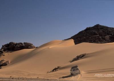 Nuestro medio de transporte por el desierto de Akakus