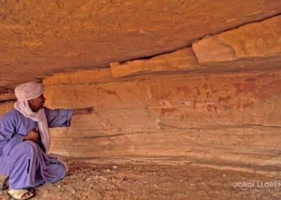 Pinturas rupestres, Wadi Erajar Manlen, desierto Akakus