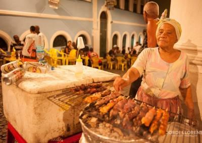 Pinchitos de carne, Salvador de Bahía
