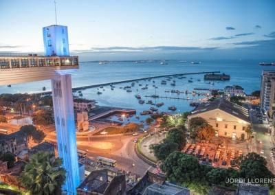 Ciudad baja con el mercado Modelo, Salvador de Bahía