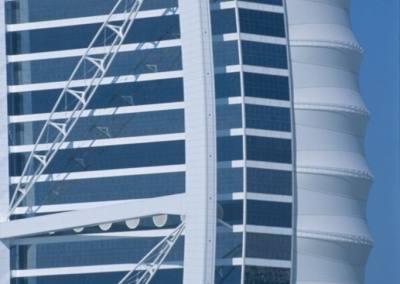 Detalle de la fachada del hotel Burj Al Arab, Dubai