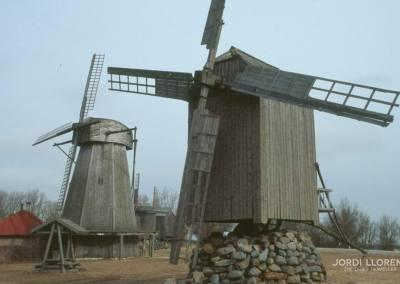 Molinos de viento, Karja, Isla Saaremaa