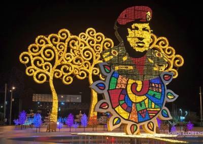 Arboles iluminados, Managua