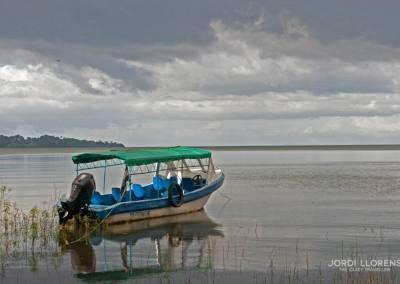 Atardecer en el lago Cocibolca, Isla de Mancarrón, Solentiname