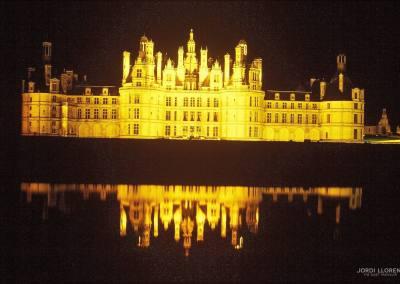 Noche en el castillo de Chambord, Loire
