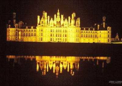 Noche en el castillo de Chambord, Loira